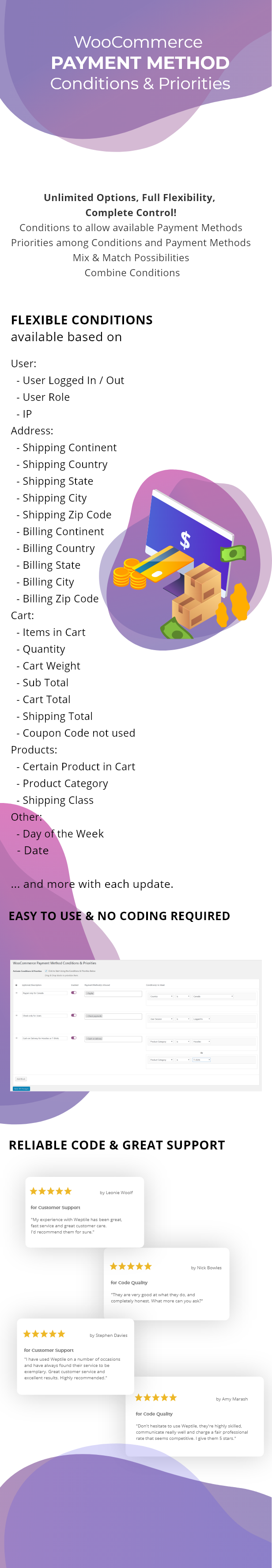 WooCommerce Payment Method Conditions & Priorities - 1